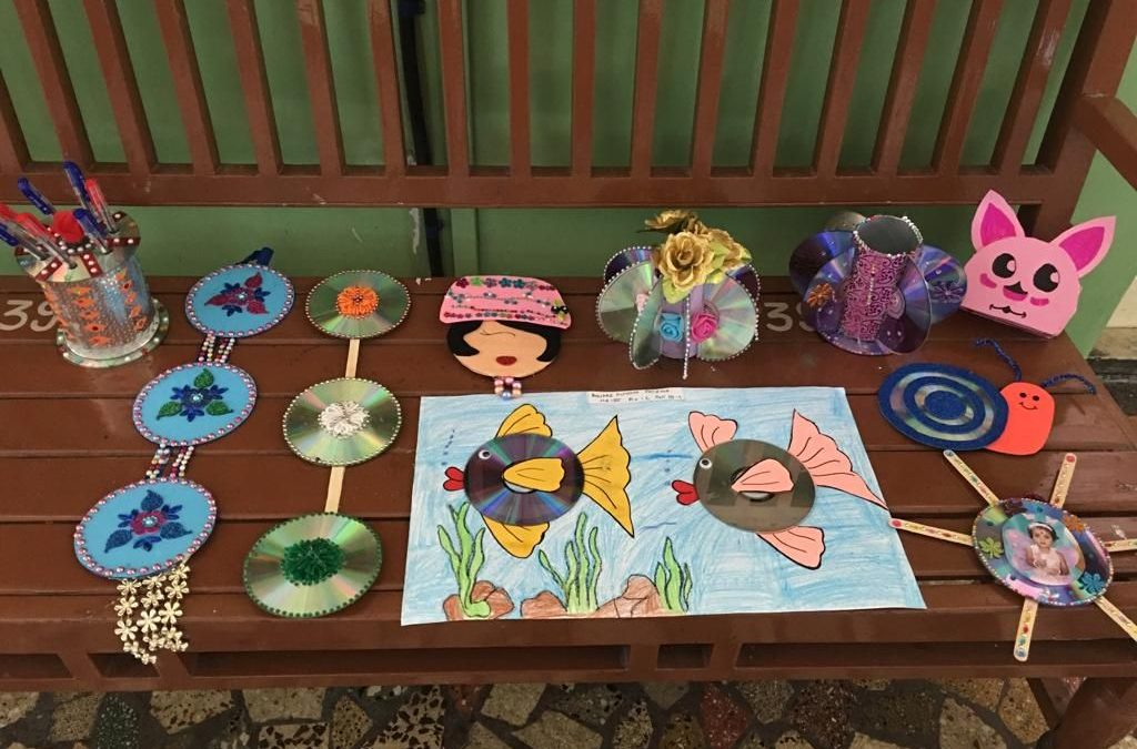 28th AUGUST– CREATIVE ART WITH CD STD 3